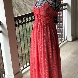 Jessica Simpson size 12 peach maxi dress NWT